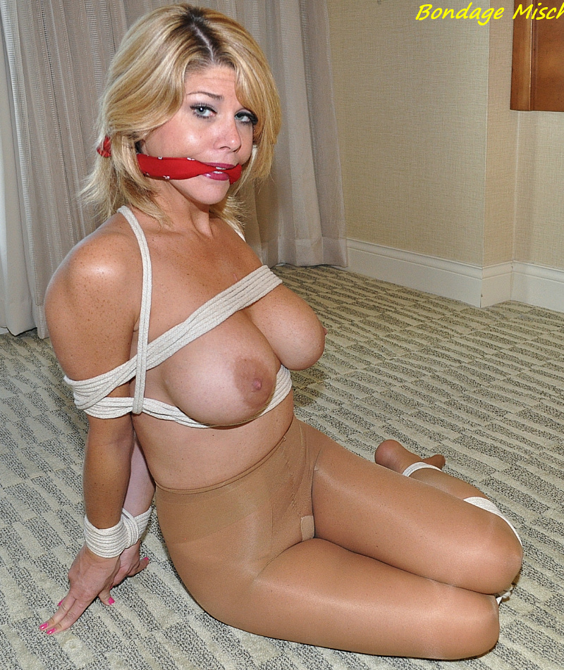 Bondage gagged pantyhose share