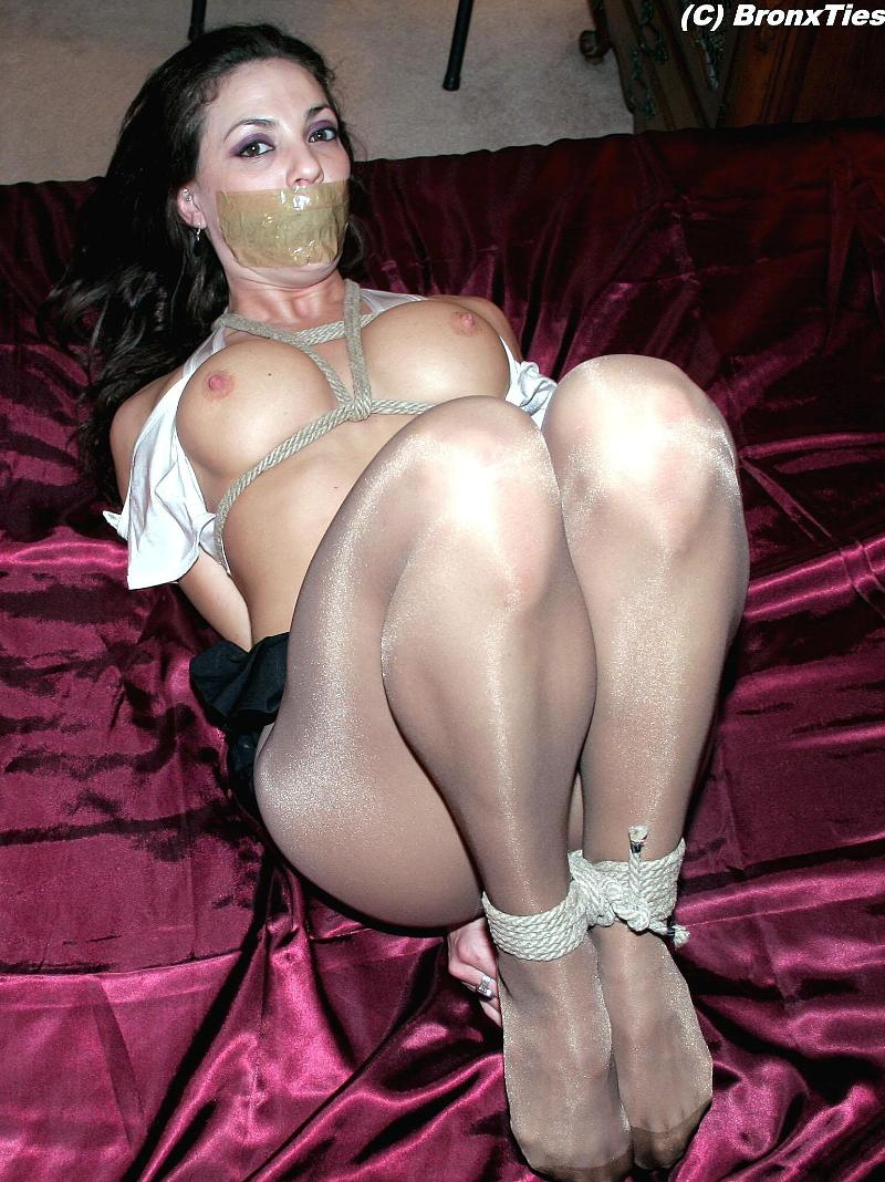 Situation bondage gagged pantyhose And have