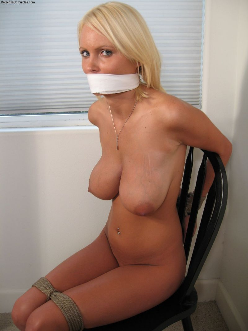 hilton naked Hannah to chair stripped tied
