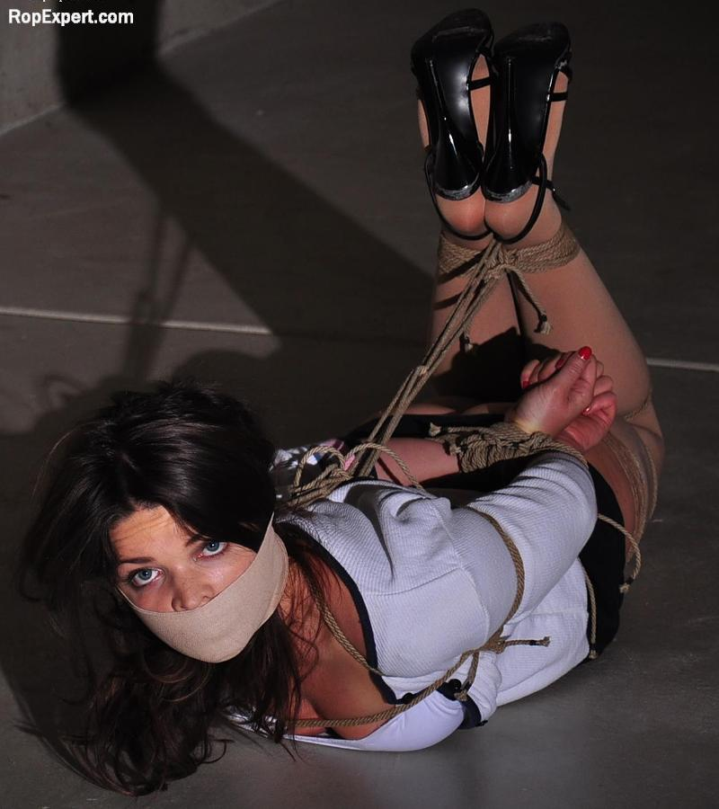 Brooke's Sexy Strappy High Heels and Tight Hogtie Struggle