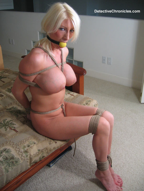 Hot Naked Blonde, Huge Tits, Tight Ropes, Ball Gag! Starring Dana