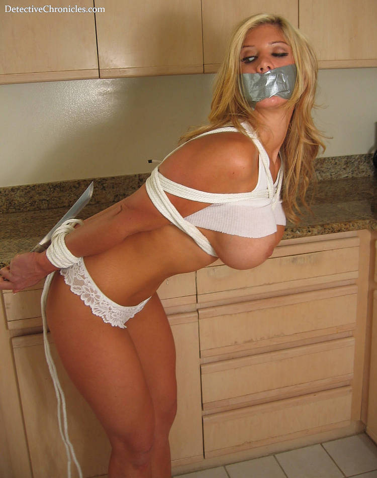 Bound, Gagged, Exposed - Be Careful With That Knife Ashley King