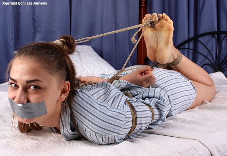 Tickle bondage gagged he takes a break from 4